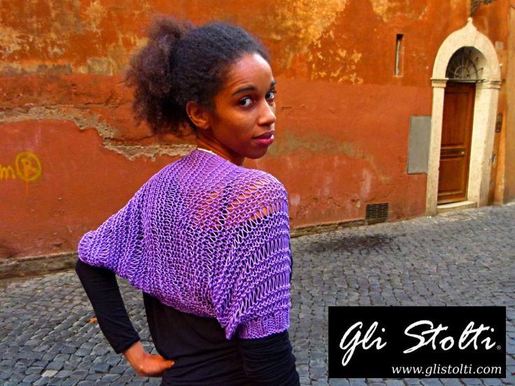 Coprispalle artigianale di cotone lilla lavorato all'uncinetto. Vai al link per tutte le info: http://glistolti.shopmania.biz/compra/coprispalle-di-cotone-lilla-436 Gli Stolti Original Design. Handmade in Italy. #glistolti #moda #artigianato #madeinitaly #design #stile #roma #rome #shopping #fashion #handmade #style #primavera #spring