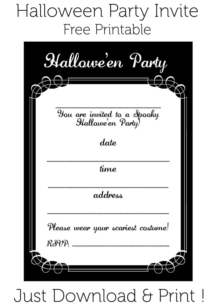 36 best images about Printable Halloween – Free Printable Halloween Costume Party Invitations