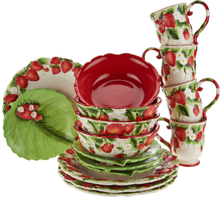 Add a touch of fresh-picked charm to your everyday dining and serving experiences with this versatile Figural Fruit dinnerware set by Temp-tations.  sc 1 st  Pinterest & 5279 best Strawberry collection images on Pinterest | Strawberries ...