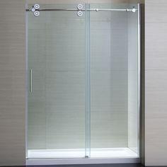 OVE Decors Sydney 56-in to 59.5-in W x 78.7-in H Frameless Sliding Shower Door