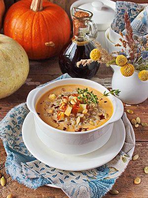 Блюда из тыквы – крем-суп из запеченной тыквы, горшочек из тыквы, запеченная тыква с киноа. Мастер-класс на Gastronom.ru