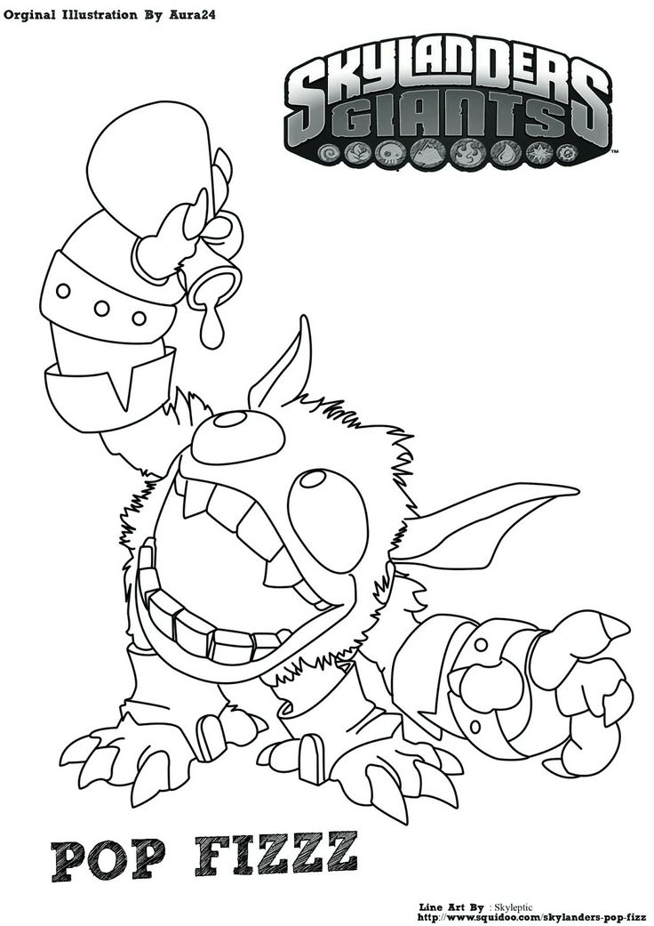 Skylanders Coloring Pages Pop Fizz | Coloring Pages