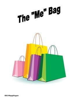 Beginning of the Year Me Bag Activity - on sale today, Monday, August 11!
