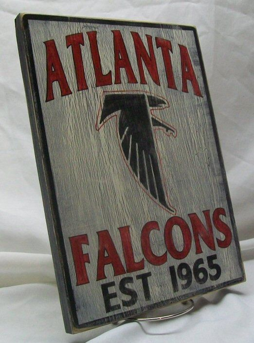 Atlanta Falcons wall sign distressed by Route66VintageSigns, $25.00
