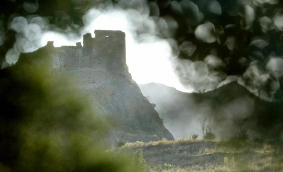 The  medieval castle of Quermanco in Catalonia