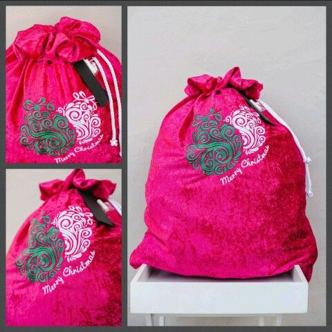 Pink Christmas sack just for the girls. Perfect size to fit all those gifts approx 56cm X 77cm. www.thegiftsack.co.za