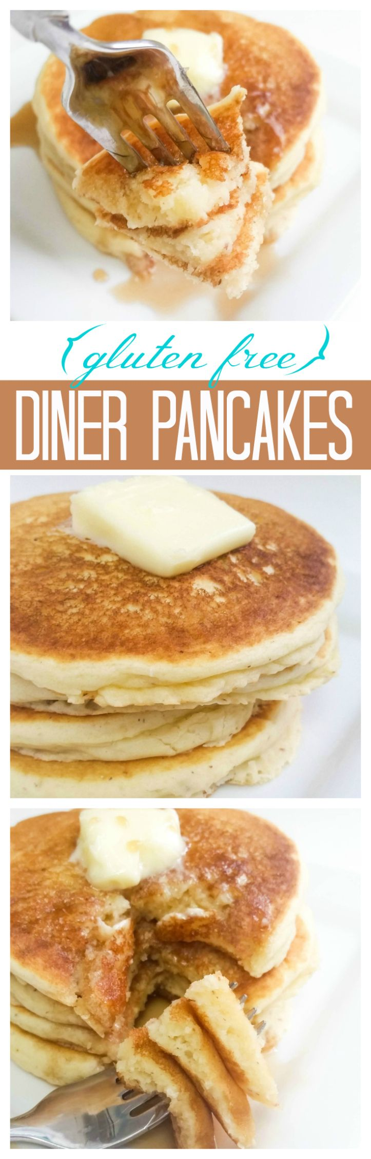 Fluffy pancakes that taste just like the kind you get in an old-fashioned diner, but without the gluten!