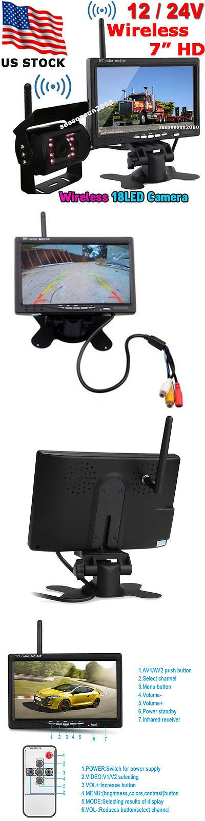 Car Monitors w o Player: 24V 7 Wireless Reverse Rear View Monitor+18Leds Ir Backup Camera For Bus Truck -> BUY IT NOW ONLY: $69.99 on eBay!