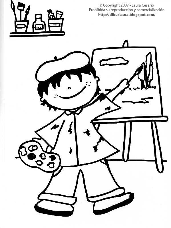 dibujos para chicos thema kunst voor kleuters
