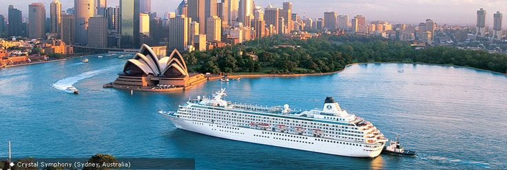 Crystal Cruises. This seems like the best cruise ships.