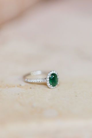 With the most magnificent shade of green symbolizing beauty and eternal love, it's no surprise why emeralds make for amazing engagement rings. Take a peek at some of the green beauties and ponder, would you rock an emerald engagement ring?