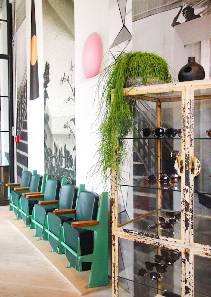The Store Soho House Berlin green cinema chairs #shop #interiors #urbanjunglebloggers