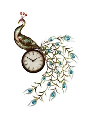 Peacock Jewelled Wall Clock, http://www.very.co.uk/home-collection-peacock-jewelled-wall-clock/1279884648.prd