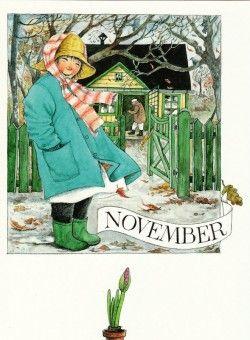November (K50-594) ansichtkaart