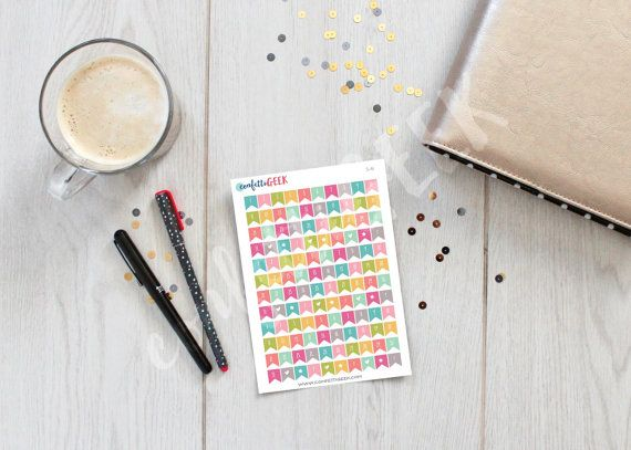 dated colorful functional banner stickers to by ConfettiGeek