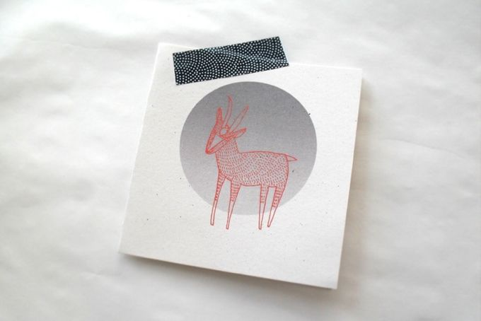 Bokkie in the Moonshine  Gift Card by Lauren Fowler