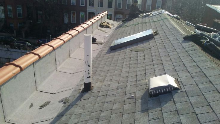 New shingle roof with a flat roof valley Flat roof, Roof