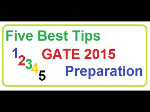 Five best tips on GATE preparation. Watch the video to know more about it.