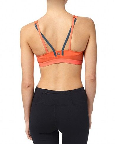Sweaty Betty - Infinity Workout Bra - yellow/orange