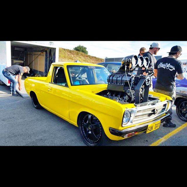 FUKDAT #Datsun #1200 #supercharged #LS1 #bignugly #burnoutcar