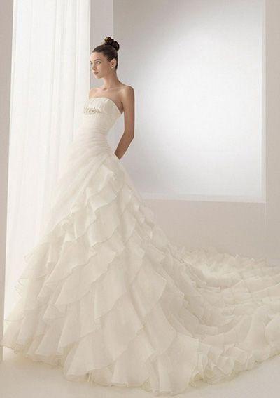 A-Line V-neck Cathedral Train Taffeta Bridal Dresses,$179.49