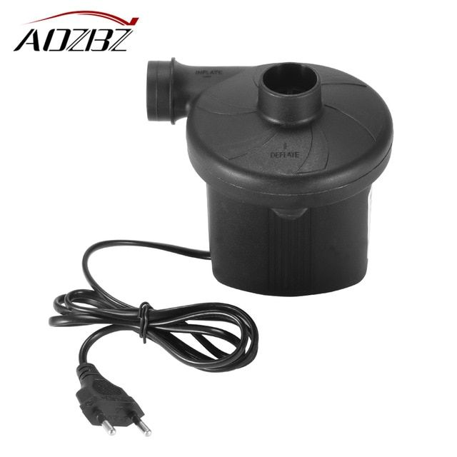 Ac 220v Electric Air Pump Inflate Deflate Pump For Airbed Boat Toy Camping Toys Air Bed Compression Bag Mattress Review Air Bed Air Pump Camping Toys