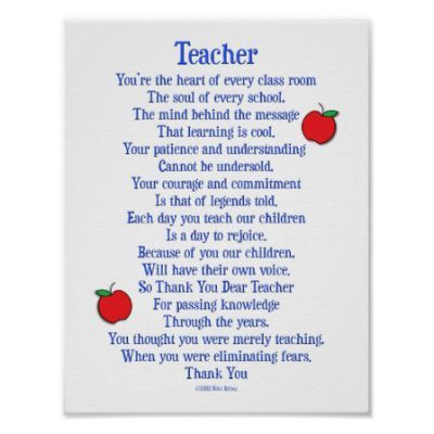 teacher poem - Yahoo Search Results