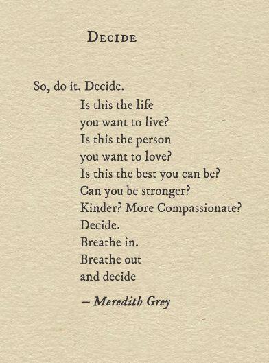 #deciding & #courage