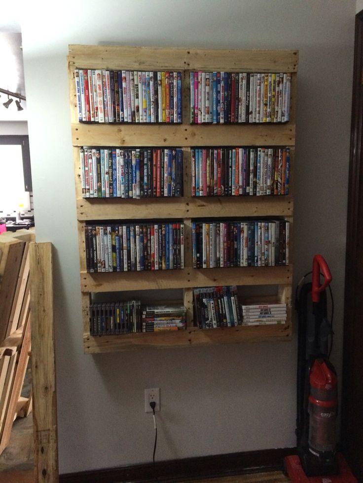 Pallet movie shelf