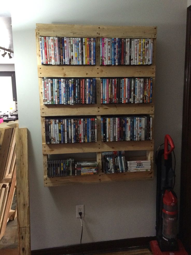 Pallet movie shelf