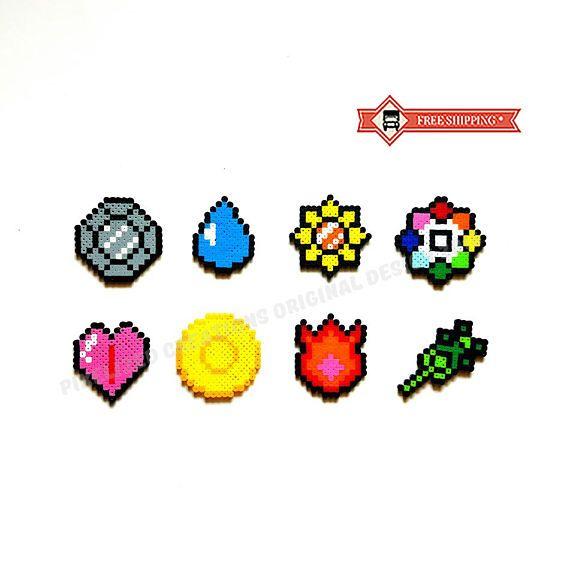 Pokemon Kanto Region Gym Badge Pins  Complete Set of 8