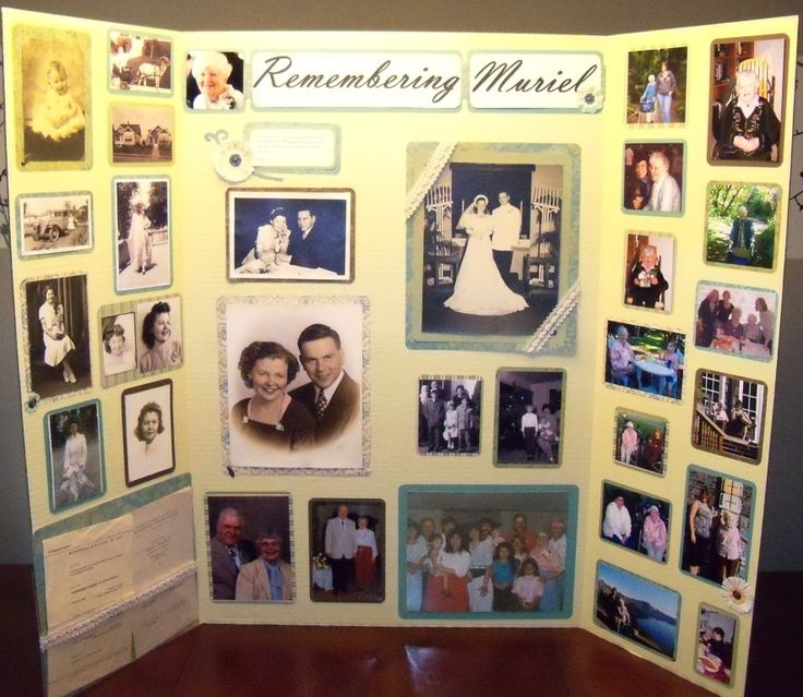 23 best images about memorial picture display on pinterest for Family display board ideas