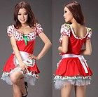 Sexy Strawberry Shortcake Fancy Dress Maid Christmas Costumes Cosplay Dress http://cheapcosplay.com/cosplay-costumes/maid-cosplay