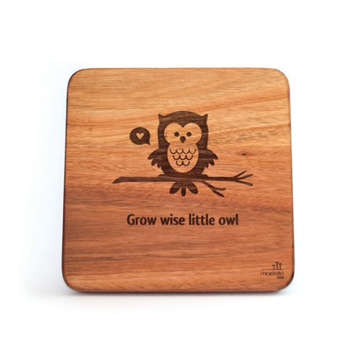 """""""Grow wise little owl."""" Such a sweet affirmation for a kids room or nursery. This would look great on it's own or as a series with our other animal wall art designs."""
