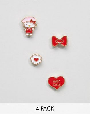 Hello Kitty x ASOS 4 Pack Mismatch Earrings