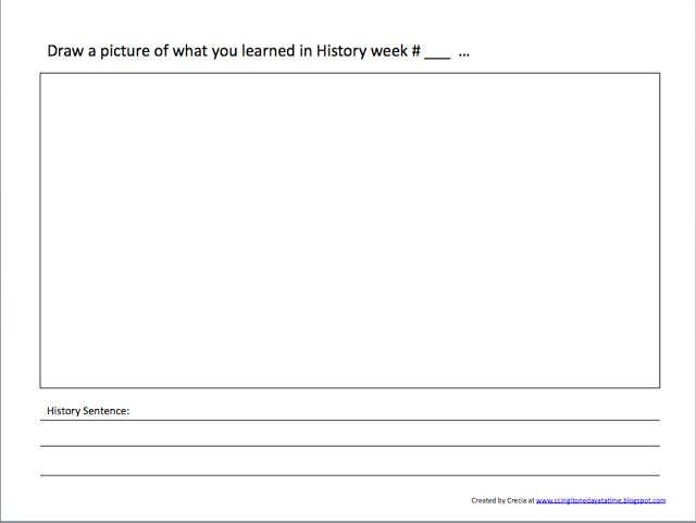 One Day at a Time...: History Notebooking page idea.