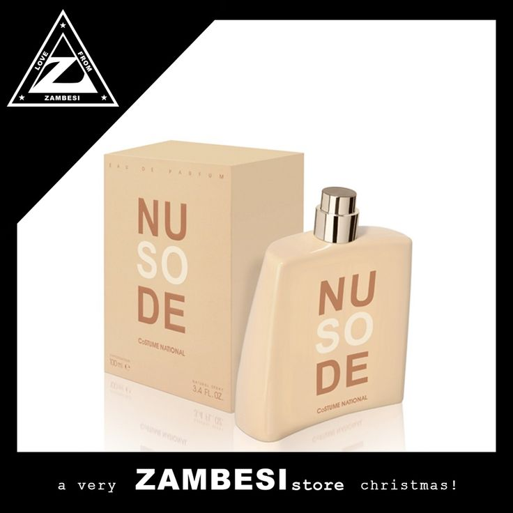 """""""CoSTUME NATIONAL 'so nude'.. 100ml of heaven with notes of cardamom, cumin, rose, sandalwood to name a few.. love it!"""" - jo, ZAMBESI ponsonby #zamfam. #costumenational scents are available in all ZAMBESI stores x"""