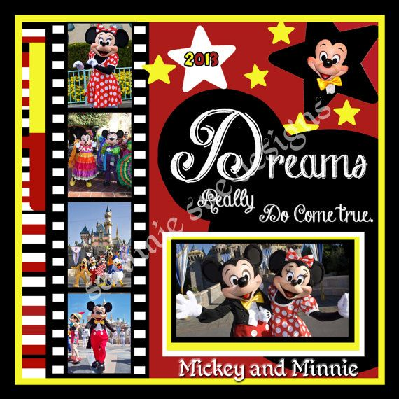 Digital Disneyland Scrapbook Page Instant by SammieSueDesigns, $5.00
