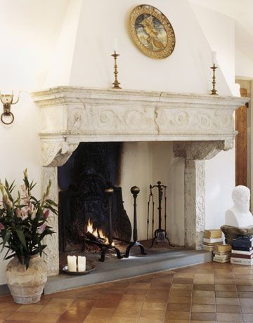 love this fireplace/ not sure if it is inside or outside,,,,I just know I love it !