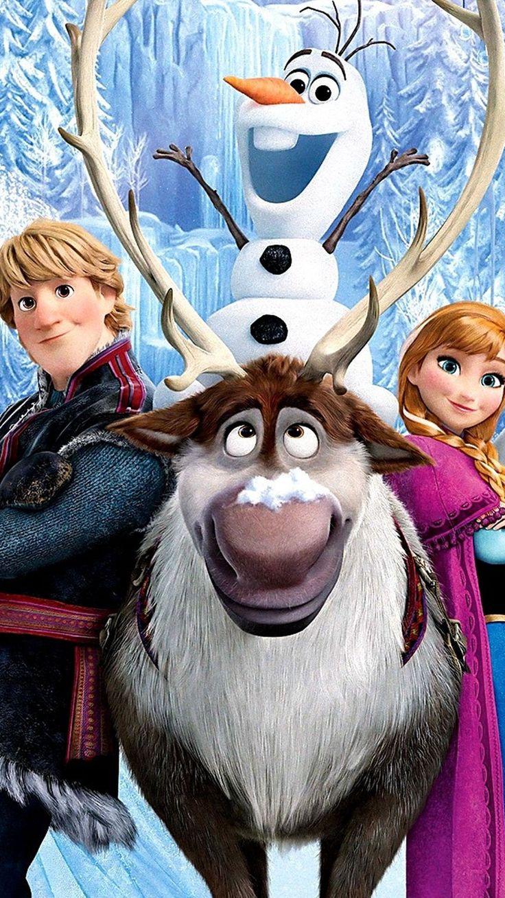 2014 Disney Anna Kristoff Sven Olaf Halloween Frozen iPhone 6 Plus Wallpapers - Snow Trees
