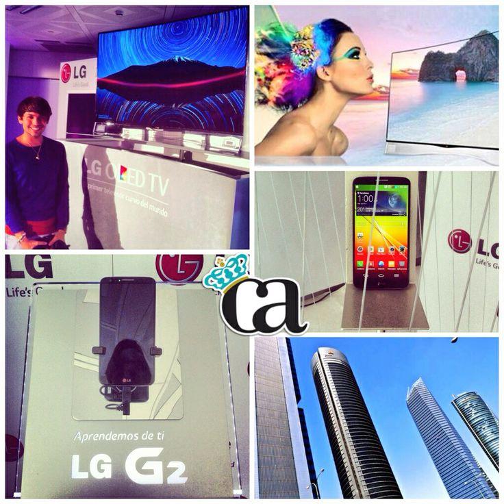 En la presentación del nuevo TV Curvo OLED de @LG_ES #OLEDCurvoLG #ArnyTecnologico #ArnyTV #ArnyNews