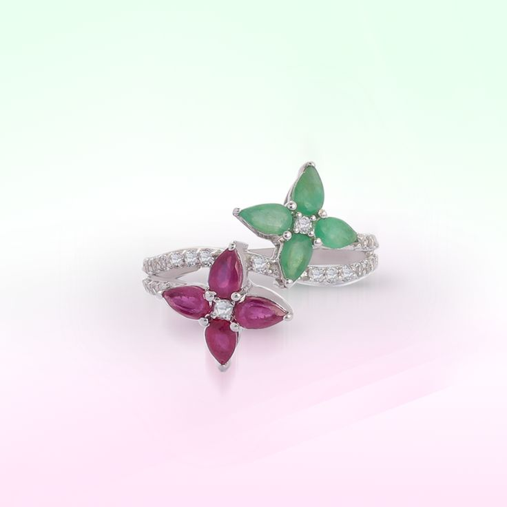 Emerald & Ruby ring   Shipping across India