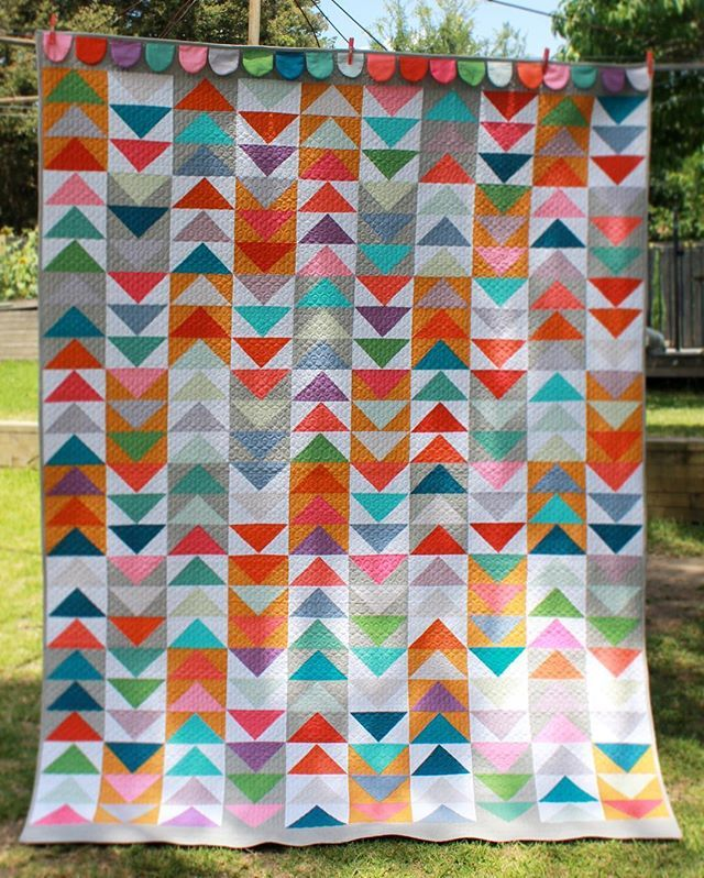 Patchwork Magazine 4 Going back to 2015 & quilt number four for @spotlightstores using #primasolids #primahomespun cotton range