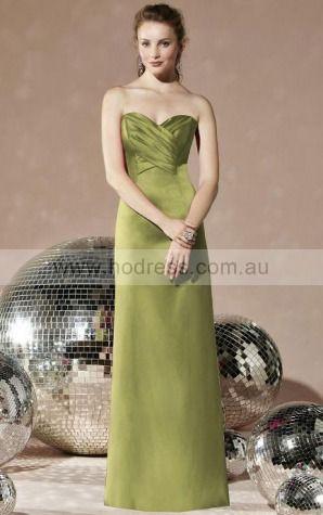 Satin Sweetheart Natural A-line Floor-length Bridesmaid Dresses 0740400--Hodress