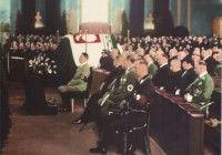 Adolf Hitler attending memorial service of Polish First Marshall Jozef Pilsudski in Berlin, 1935
