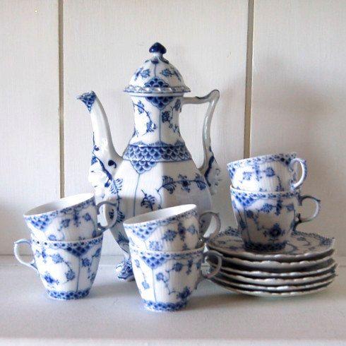Vintage Royal Copenhagen Set Tea/Coffee Pot 6 by BridgetsCottage, $848.00