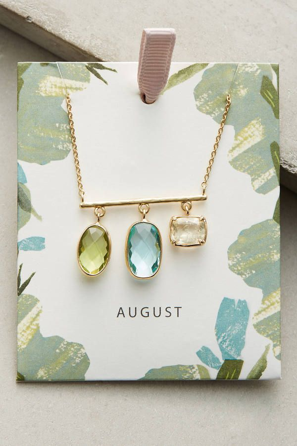 Anthropologie Birthstone Necklace by Anthropologie. Click the link to immediately shop the look!