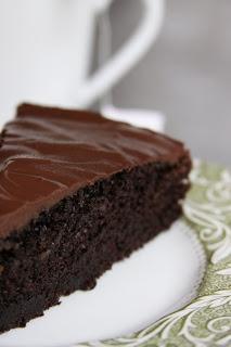 Vegan Chocolate Birthday Cake with Chocolate Ganache Icing (use unsweetened applesauce instead of oil)