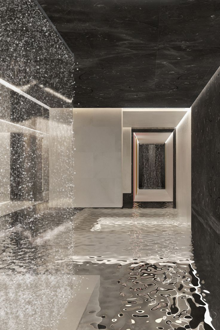 Competition entry & spa interior architecture for Kokkedal Slot/Castle by Studio David Thulstrup, 2012.