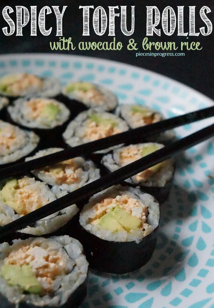 Spicy Tofu Sushi